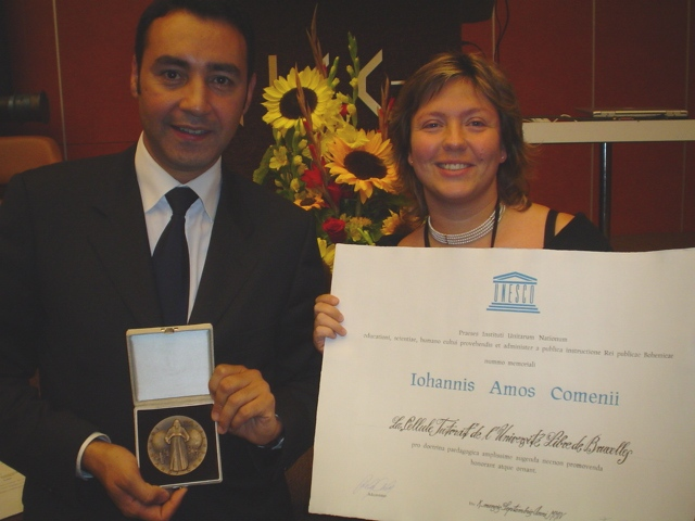 Attribution de la Médaille Jan Amos Comenius de l'UNESCO au Programme Tutorat.