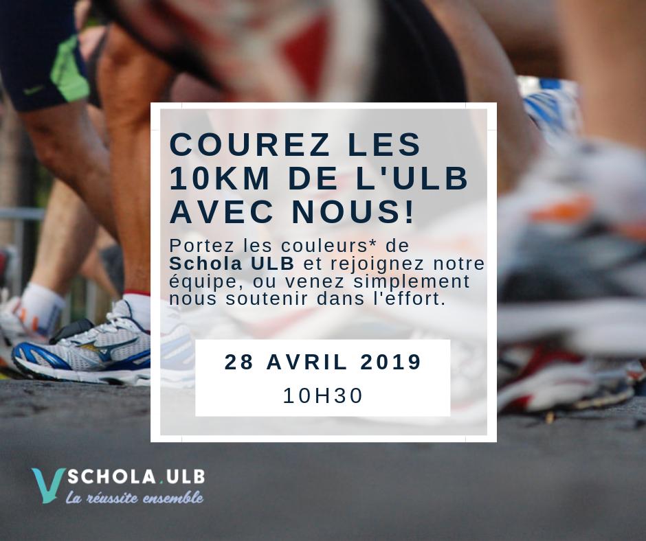 28 Avril 2019 - Courez aux couleurs de Schola ULB