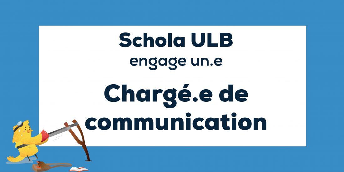 Offre d'emploi : chargé.e de communication