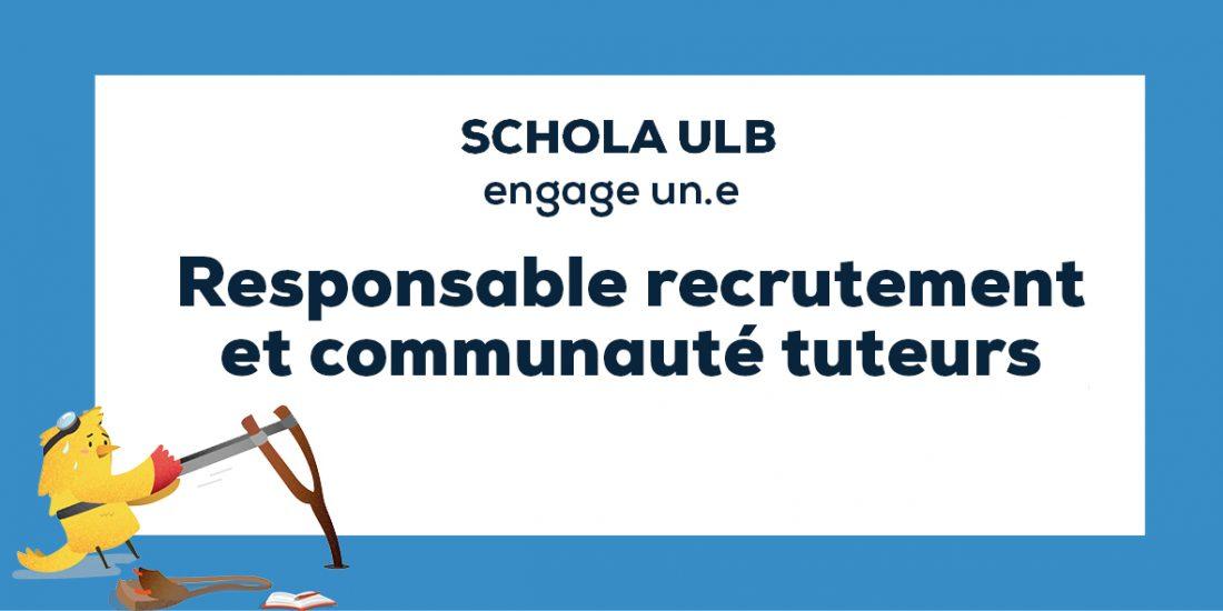 Offre d'emploi : responsable recrutement et communauté tuteurs - CDD 7 mois