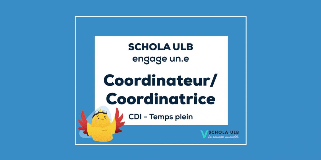 Offre d'emploi : Coordinateur / Coordinatrice - CDI (temps plein)