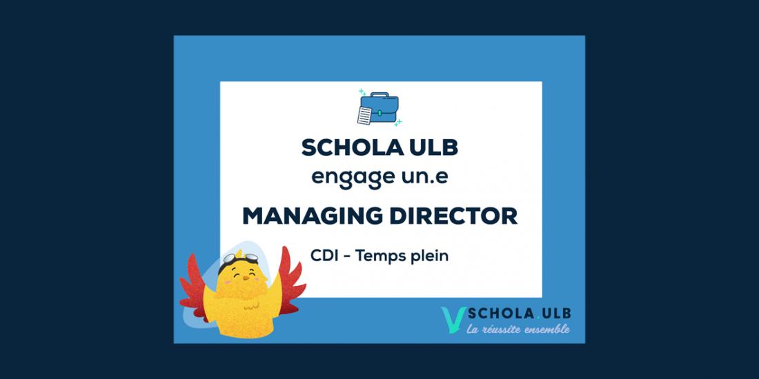 Offre d'emploi : Managing Director / CDI - Temps plein